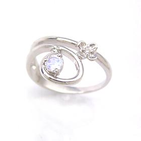 ダイヤモンド ロイヤルブルームーンストーン 6月誕生石リング リング レディース 指輪・フィオルーチェ ピンキーリング レディース 指輪 指輪 ファランジリング ミディリング 関節リング 華奢 シンプル ファッションリング 可愛い ブランド 宝石 おしゃれ
