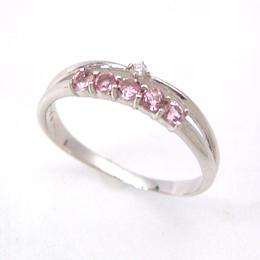 K18 ホワイトゴールドリング 指輪 レディース ダイヤモンド・アーヴェント タンザナイト アクアマリン ピンクトルマリン 18K 18金 重ね着け風 重ねづけ風 二連 おしゃれ ファッションリング 可愛い ゆびわ ジュエリー ブランド 宝石