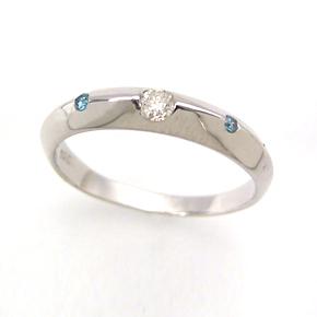 ブルーダイヤモンド ダイヤモンドリング レディース 指輪・マリ-ナ ピンキーリング対応 ファランジリング ミディリング 関節リング 華奢 シンプル ファッションリング 可愛い ゆびわ ジュエリー ブランド 宝石 おしゃれ