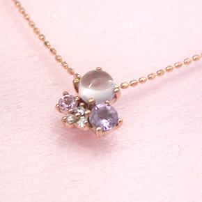 ピンクグラデーション ダイヤモンドネックレス レディース ペンダント・ソフィーチェ 華奢 シンプル ジュエリー ブランド 宝石