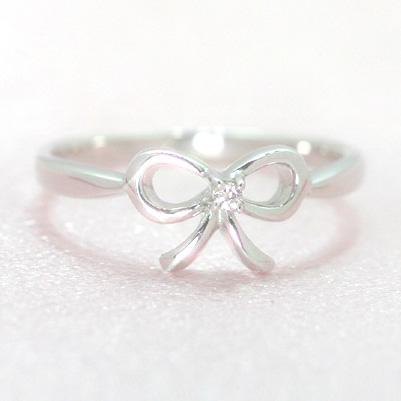 ダイヤモンド ホワイトゴールド リング レディース 指輪・アドラーブル ピンキーリング対応 ファランジリング ミディリング 関節リング 華奢 シンプル ファッションリング 可愛い ゆびわ ジュエリー ブランド 宝石 おしゃれ