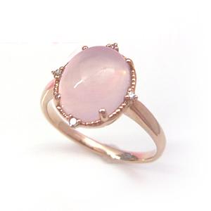 ローズクオーツ ダイヤモンドリング レディース 指輪・アンシェント 華奢 シンプル ファッションリング 可愛い ゆびわ ジュエリー ブランド 宝石 おしゃれ
