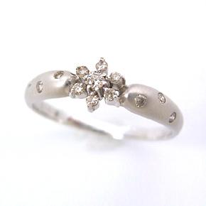 ダイヤモンド ホワイトゴールド リング レディース 指輪・エトワルネージュ ピンキーリング対応 ファランジリング ミディリング 関節リング 華奢 シンプル ファッションリング 可愛い ゆびわ ジュエリー ブランド 宝石 おしゃれ