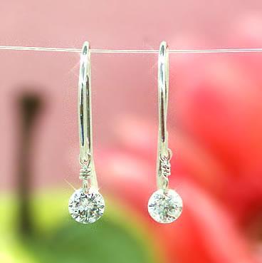 【あす楽対応】SIクラス相当0.2ctダイヤモンド ピンクゴールド ホワイトゴールドピアス レディース・ティアレンス 0.2カラット フローティングダイヤモンド フックピアス 揺れる レーザーホール 一粒ダイヤモンド 誕生日プレゼント 女性 華奢 シンプル ぶらさがり 宝石