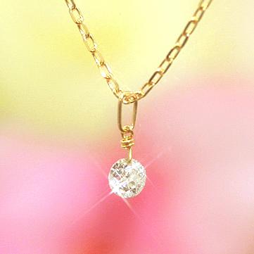 【あす楽対応】1,500本完売!輝きが違う揺れるダイヤモンド SIクラス相当0.1ctダイアモンド 10K K10 10金 ゴールドネックレス レディース ペンダント・ティアレンス 誕生日プレゼント 女性 一粒 送料無料 ピンクゴールド ホワイトゴールド ジュエリー ブランド 宝石