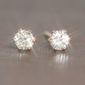 【あす楽対応】0.2カラットダイヤモンド K18 ピンクゴールド ホワイトゴールドピアス レディース・リュイール 18K 18金 一粒ダイヤモンド 一粒ピアス レディース 0.2ct 誕生日プレゼント 女性 華奢 シンプル 可愛いピアス ジュエリー ダイアモンド ブランド 宝石