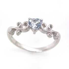 アクアマリン ダイヤモンドリング レディース 指輪・アクティス 華奢 シンプル ファッションリング 可愛い ゆびわ ジュエリー ブランド 宝石 おしゃれ