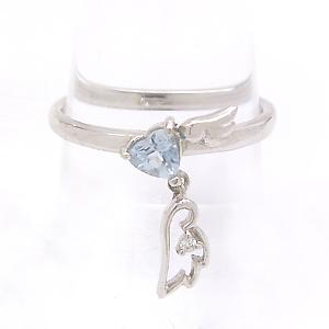 アクアマリン ダイヤモンドリング レディース 指輪・モリナーニ 華奢 シンプル ファッションリング 可愛い ゆびわ ジュエリー ブランド 宝石 おしゃれ