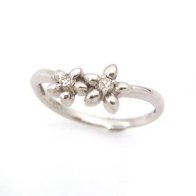 ダイヤモンド ホワイトゴールド リング レディース 指輪・フルレッティ 華奢 シンプル ファッションリング 可愛い ゆびわ ジュエリー ブランド 宝石 おしゃれ