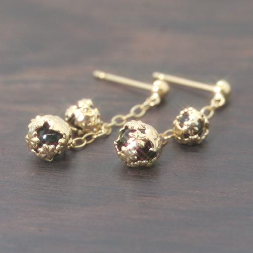 オニキス K18 ゴールドピアス レディース・レクトール 18K 18金 華奢 シンプル 小粒 可愛いピアス ジュエリー ブランド 宝石