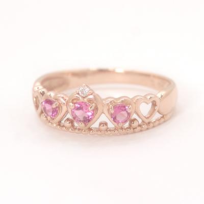 ピンクトルマリン ピンクゴールド リング レディース 指輪・リーリカ 華奢 シンプル ファッションリング 可愛い ゆびわ ジュエリー ブランド 宝石 おしゃれ