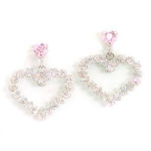カラーキュービック ホワイトゴールドピアス レディース・チェルヴィ 華奢 シンプル 小粒 可愛いピアス ジュエリー ブランド 宝石