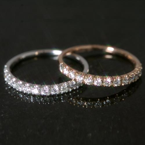 0.3ctダイヤモンド 10K ピンクゴールド ホワイトゴールドリング 指輪・イヴローニュ レディース 13粒のダイヤモンドでおつくりしたエタニティリング! エタニティー 天然ダイヤモンド 10金 10K 結婚指輪 マリッジ 婚約指輪 エンゲージ 誕生日 ブランド 宝石 おしゃれ