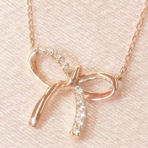 ダイヤモンド ピンクゴールドネックレス レディース ペンダント・ラリエセレナ 誕生日プレゼント 華奢 シンプル ジュエリー ブランド 宝石