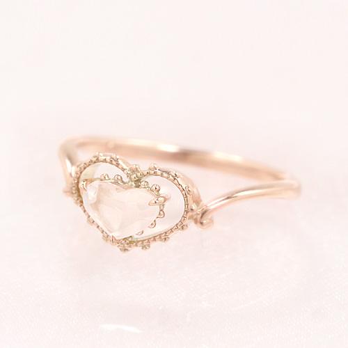 ローズクオーツ ピンクゴールド リング レディース 指輪・レフィーノ 誕生日プレゼント 華奢 シンプル ファッションリング 可愛い ゆびわ ジュエリー ブランド 宝石 おしゃれ