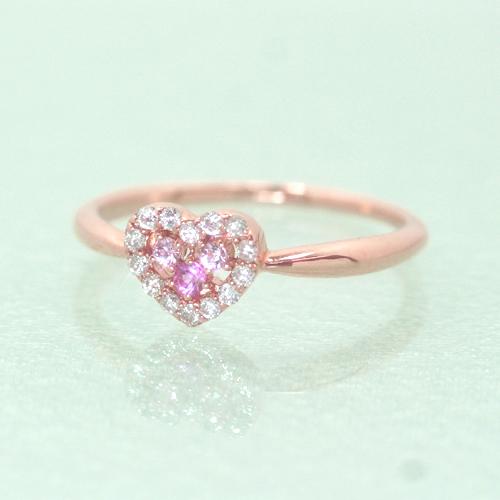 ダイヤモンド ピンクサファイアリング レディース 指輪・ラブリエ (サファイア/サファイヤ) 誕生日プレゼント 華奢 シンプル ファッションリング 可愛い ゆびわ ジュエリー ブランド 宝石 おしゃれ