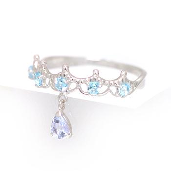 タンザナイト ホワイトゴールド リング レディース 指輪・バリエルシェリエ 華奢 シンプル ファッションリング 可愛い ゆびわ ジュエリー ブランド 宝石 おしゃれ