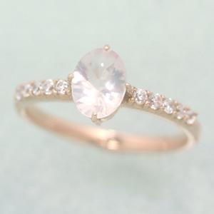 ローズクオーツ ピンクゴールド リング レディース 指輪・エスペラール 誕生日プレゼント 華奢 シンプル ファッションリング 可愛い ゆびわ ジュエリー ブランド 宝石 おしゃれ