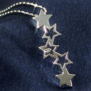 ダイヤモンド ホワイトゴールドネックレス レディース ペンダント・メテオー 華奢 シンプル ジュエリー ブランド 宝石