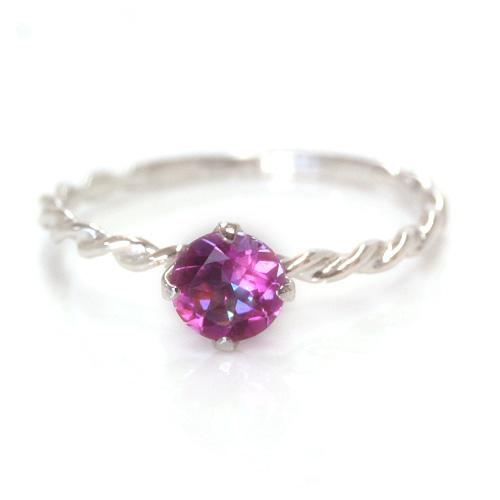 大胆ピンクで そそる手元・・! ジニアスミストトパーズ ホワイトゴールド リング レディース 指輪・アルディート ファッションリング 可愛い ゆびわ ジュエリー ブランド 宝石 おしゃれ