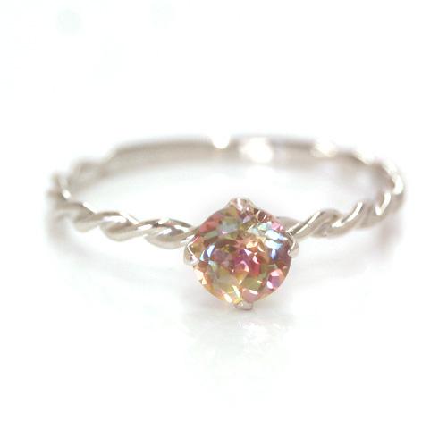 コンバレンミストトパーズ ゴールド リング レディース 指輪・カレイドスコープ 華奢 シンプル ファッションリング 可愛い ゆびわ ジュエリー ブランド 宝石 おしゃれ