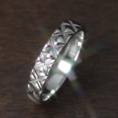 【ペアリング レディース 指輪】ホワイトゴールド リング レディース 指輪・ルティッシュ(メンズ) 華奢 シンプル ファッションリング 可愛い ゆびわ ジュエリー ブランド 宝石 おしゃれ
