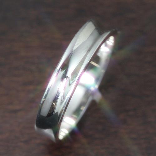 【ペアリング レディース 指輪】ホワイトゴールド リング レディース 指輪・ナチュリア(メンズ) 華奢 シンプル ファッションリング 可愛い ゆびわ ジュエリー ブランド 宝石 おしゃれ