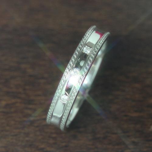 【ペアリング 指輪】ダイヤモンド ホワイトゴールド リング 指輪・レリーフィア(レディース) 華奢 シンプル ファッションリング 可愛い ゆびわ ジュエリー ブランド 宝石 おしゃれ