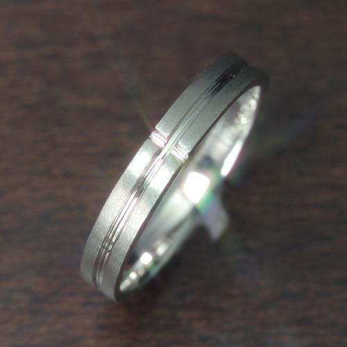【ペアリング レディース 指輪】ホワイトゴールド リング レディース 指輪・セイン(メンズ) 華奢 シンプル ファッションリング 可愛い ゆびわ ジュエリー ブランド 宝石 おしゃれ