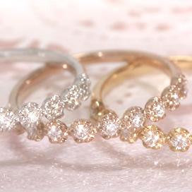 0.2ct ダイヤモンド 10K ゴールド リング レディース 指輪・ラ・クローヌ・ロワイアール K10 10金 誕生日プレゼント 女性 華奢 シンプル ファッションリング 可愛い ゆびわ ジュエリー ピンクゴールド ホワイトゴールド 0.2カラッ ブランド 宝石 おしゃれ