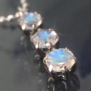 ブルームーンストーン 6月誕生石 ホワイトゴールド ネックレス レディース ペンダント・エレーデュ 華奢 シンプル ジュエリー ブランド 宝石