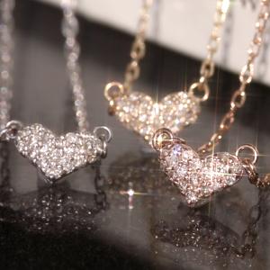 ダイヤモンド ハート ネックレス ローズクオーツ ダイヤモンド ピンクトルマリン ペンダント 通販 人気 おすすめ