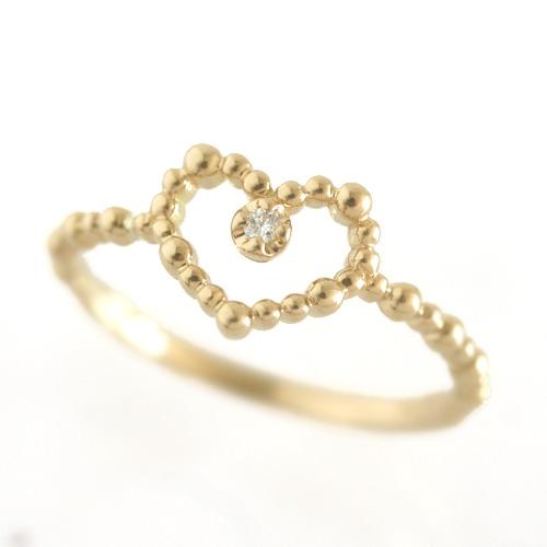 ダイヤモンド ゴールド リング レディース 指輪・キルシェ 華奢 シンプル ファッションリング 可愛い ゆびわ ジュエリー ブランド 宝石 おしゃれ