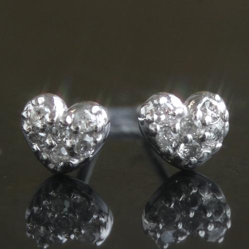 0.1カラットダイヤモンド ピアス 18金 18K K18 ホワイトゴールドピアス レディース・デミア 大人気のハートパヴェ ハートカラーストーン モチーフ 大人かわいい 誕生日プレゼント 可愛いピアス ジュエリー ブランド 宝石