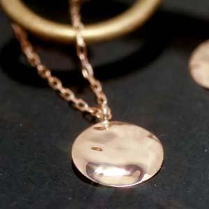 K10 ゴールド ネックレス レディース ペンダント・ディプレ ピンクゴールド ホワイトゴールド シンプル 地金 ループ プレート 華奢 シンプル ジュエリー ブランド