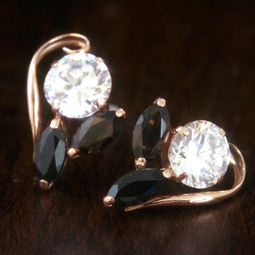 スモーキークオーツ オニキスピアス レディース・グロッセ 誕生日プレゼント 華奢 シンプル 小粒 可愛いピアス ジュエリー ブランド 宝石