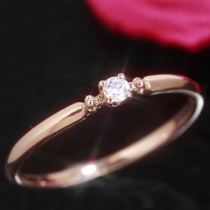 一粒ダイヤモンド K10 ピンクゴールド イエローゴールド ホワイトゴールド リング レディース 指輪・シュテイン シンプル 華奢 シンプル ファッションリング 可愛い ゆびわ ジュエリー ブランド 宝石 おしゃれ