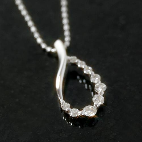 ダイヤモンド ホワイトゴールドネックレス レディース ペンダント・テルエス 誕生日プレゼント 華奢 シンプル ジュエリー ブランド 宝石wN8nvm0