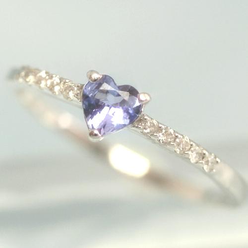 ダイヤモンド タンザナイトリング レディース 指輪・シュシュアンヌ 華奢 シンプル ファッションリング 可愛い ゆびわ ジュエリー ブランド 宝石 おしゃれ