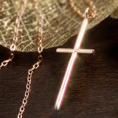 カラーゴールドネックレス レディース ペンダント・セイン(ピンクゴールド ホワイトゴールド) 華奢 シンプル ジュエリー ブランド 宝石