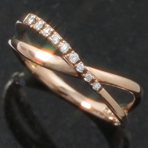 ダイヤモンド ピンクゴールド ホワイトゴールド リング レディース 指輪 品質保証 ファッションリング ゴールド シェンティ おしゃれ ゆびわ シンプル 宝石 可愛い ブランド 華奢 直営店 ジュエリー