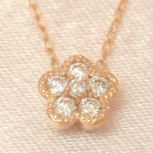 0.17カラットダイヤモンド カラーゴールドネックレス レディース ペンダント・ブリュッセル 華奢 シンプル ジュエリー ブランド 宝石