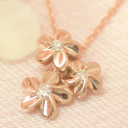 ダイヤモンド カラーゴールドネックレス レディース ペンダント・カンサスリルナ 華奢 シンプル ジュエリー ブランド 宝石
