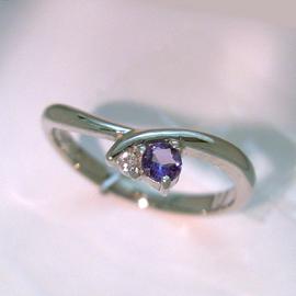 アレキサンドライト ダイヤモンド プラチナ900リング レディース 指輪・ジュノー カラーチェンジ チェンジカラー 華奢 シンプル ファッションリング 可愛い ゆびわ ジュエリー ブランド 宝石 おしゃれ