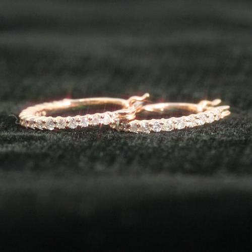 0.2ctダイヤモンド 10K カラーゴールドピアス レディース・エヴェール 10K K10 10金 フープピアス 5000個完売の超人気 0.2カラット エタニティ ダイヤ フープピアス 誕生日プレゼント 女性 華奢 シンプ ブランド 宝石