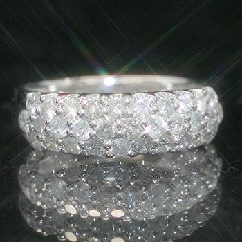 1.0ctダイヤモンド K18 ホワイトゴールドリング レディース 指輪・ラヴィエベル 華やかなパヴェリングが大人気! 18K 18金 誕生日プレゼント 女性 ファッションリング 可愛い ゆびわ ジュエリー ブランド 宝石 おしゃれ