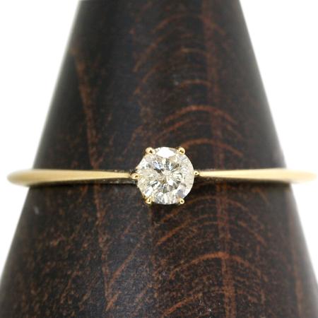一粒ダイヤモンド K10 ピンクゴールド イエローゴールド ホワイトゴールドリング レディース 指輪・ジェンレ 誕生石リング 一粒リング 重ねづけ 10K 10金 ピンキーリング対応 ファランジリング ミディリング 関節リング ジュエリー 4月誕生石リング ブランド 宝石 おしゃれ