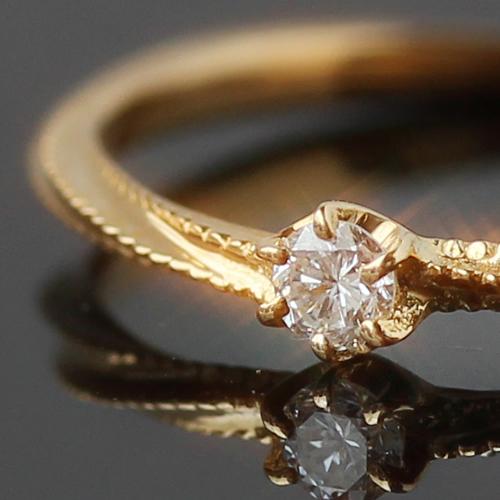 クーポンで最大3000円OFF!指輪 リング レディース ジュエリー・キングモア ダイヤモンド ゴールド ピンキーリング ピンクゴールド ホワイトゴールド 誕生日プレゼント 女性 シンプル 華奢 大人 上品 クリスマス ブランド 宝石 おしゃれ
