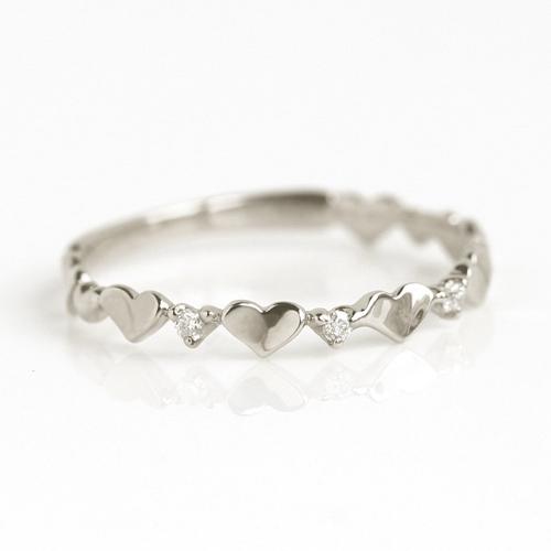 指輪 リング レディース ジュエリー・トュリンカ ハート ダイヤモンド ゴールド ピンキーリング ピンクゴールド ホワイトゴールド 誕生日プレゼント 女性 シンプル 華奢 大人 かわいい クリスマス ブランド 宝石 おしゃれ
