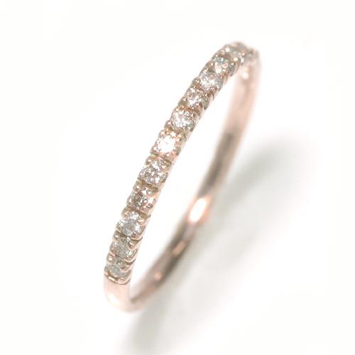 【あす楽対応】※サイズ限定 0.2ctダイヤモンド 10K ピンクゴールド ホワイトゴールドリング レディース 指輪・リーニュ・エトワール エタニティリング エタニティー 重ね着け 重ねづけ 誕生日プレゼント 女性 ファッションリング おしゃれ K10 10金 ジュエリー ブランド